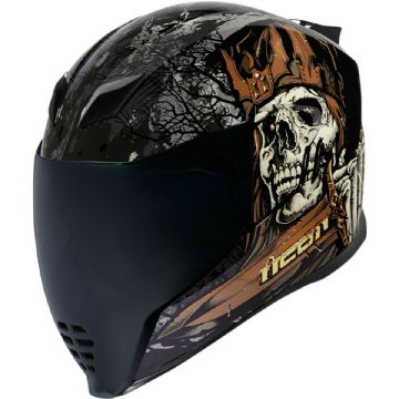 Icon Airflite Uncle Dave Medieval Skull Full Face Motorcycle Motorbike Helmet